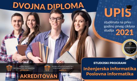 Upiši studij sa dvojnom akreditovanom diplomom